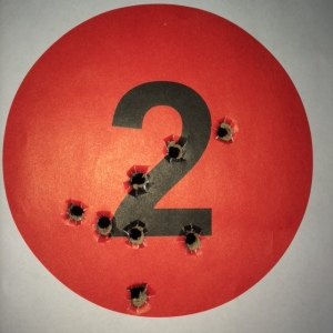 GLOCK 27, Gen4, .40S&W at twenty five feet feet, 8 rounds